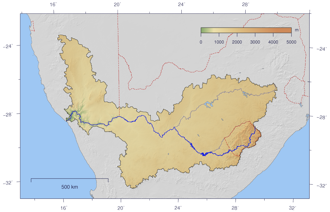 Orange River On Map Orange River Map