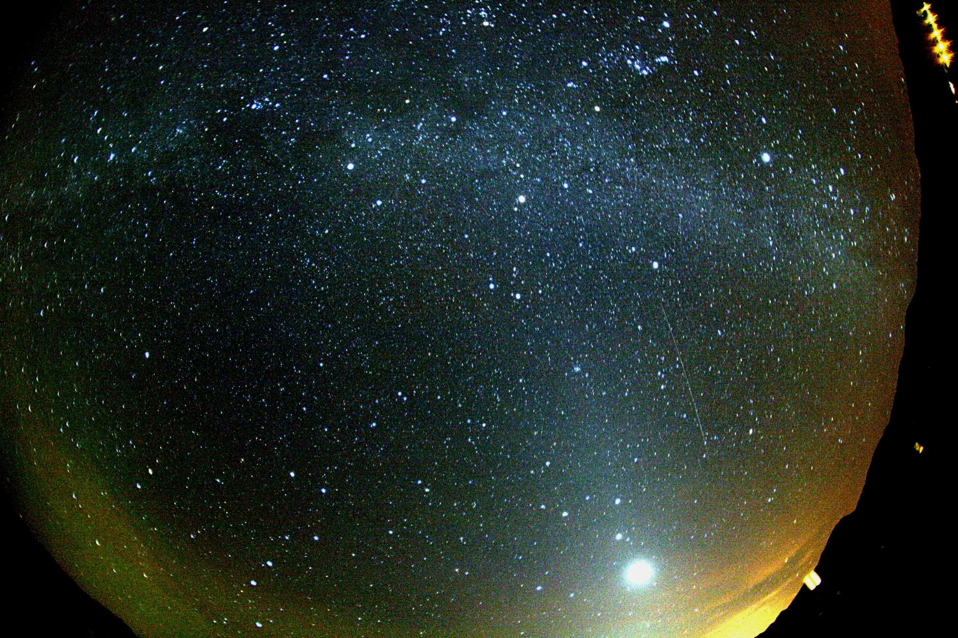 Orionid, Milky Way, Zodiac light, Venus
