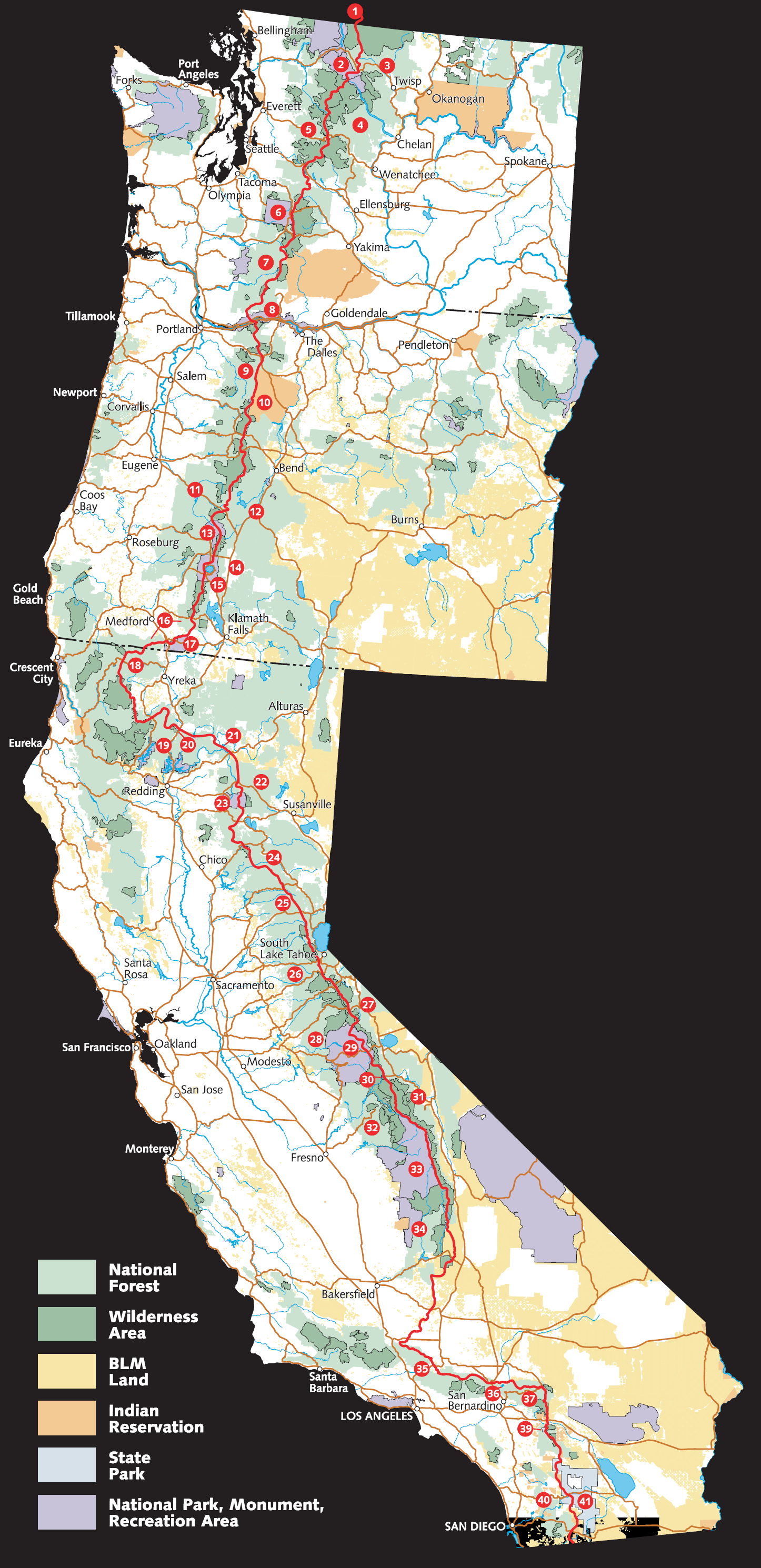 Bike Pacific Crest Trail PCT overview from Forest