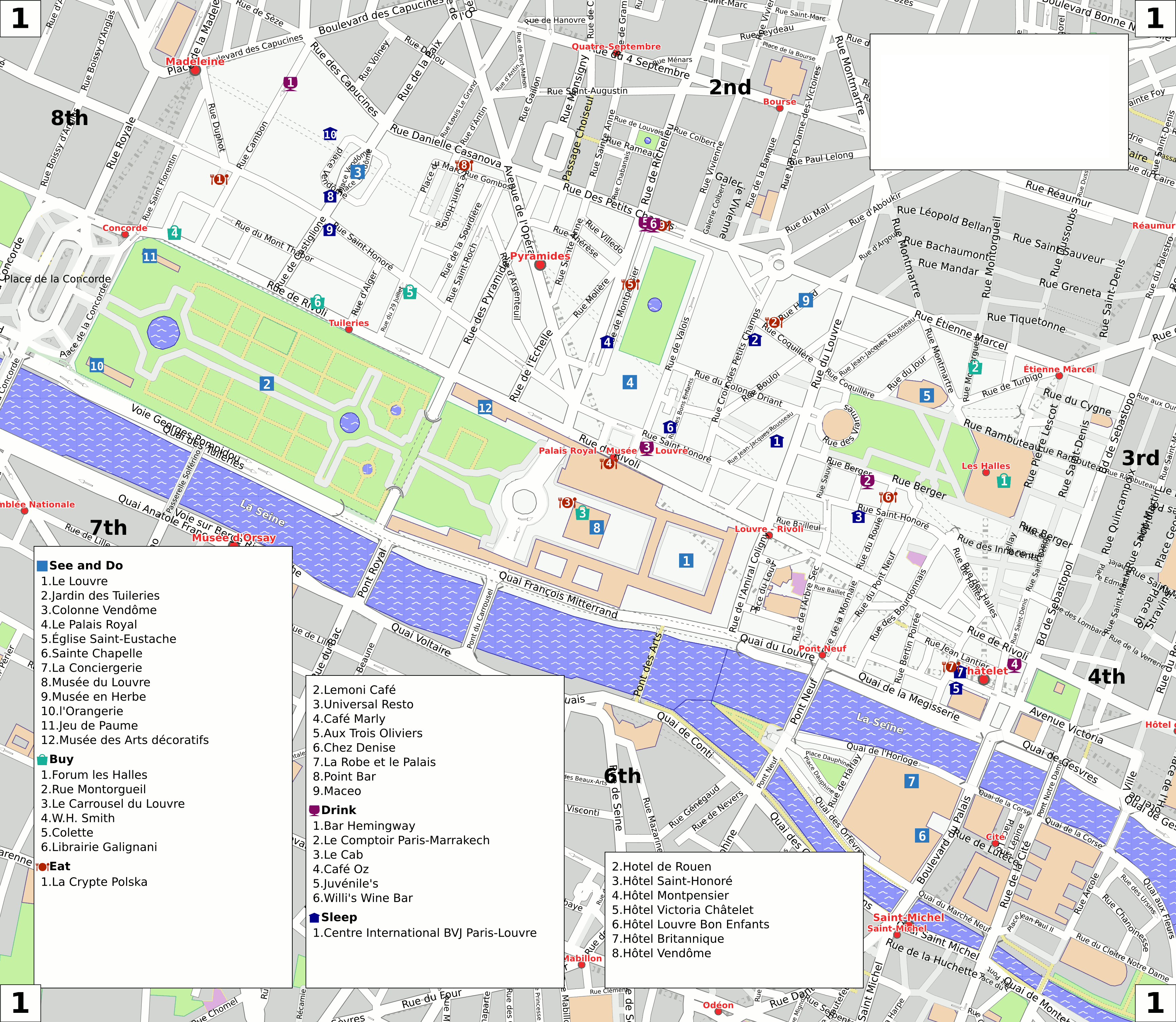 1st Arrondissement Paris Map