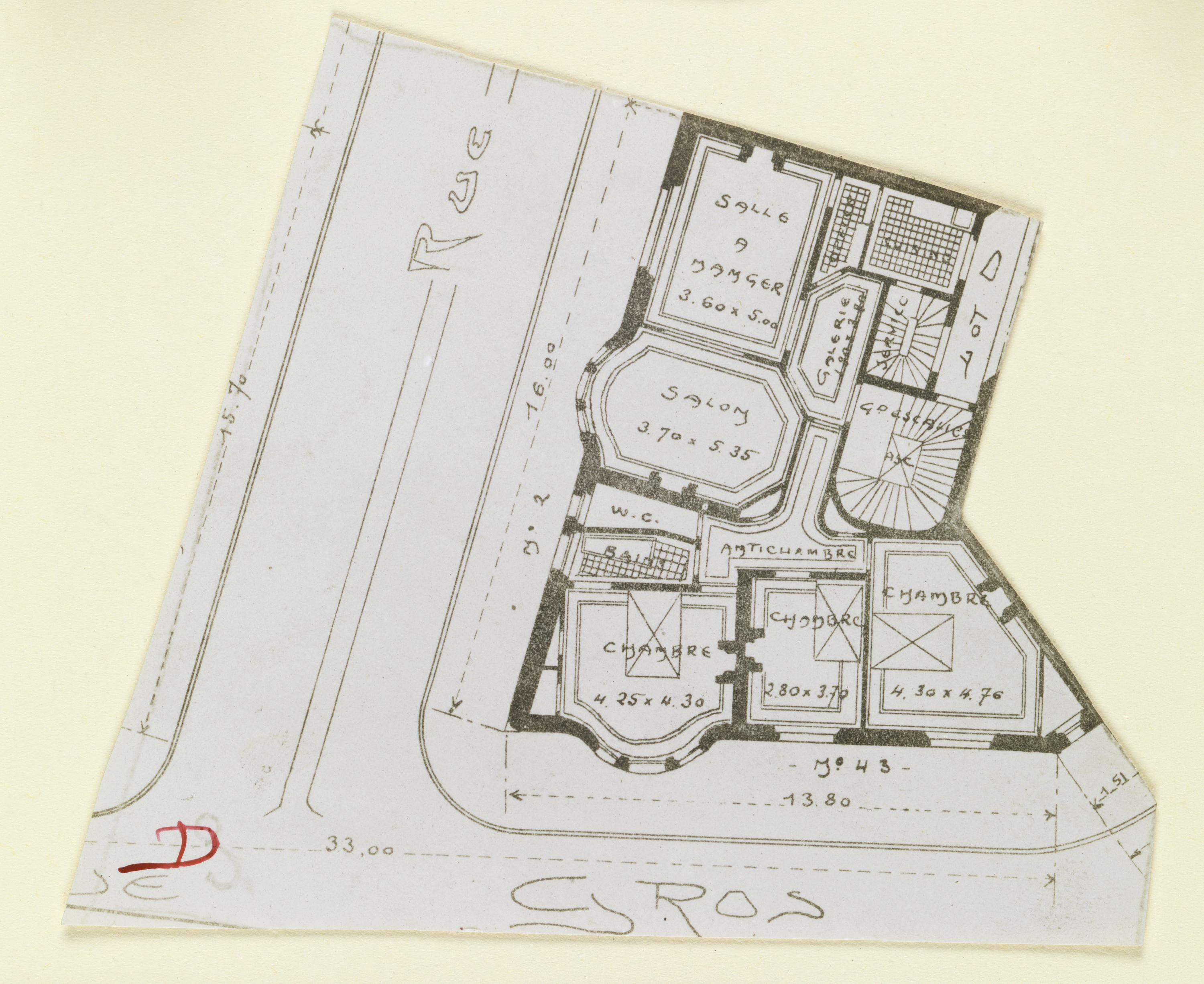 File:Photograph, Photograph of a Floor Plan for an Apartment ...