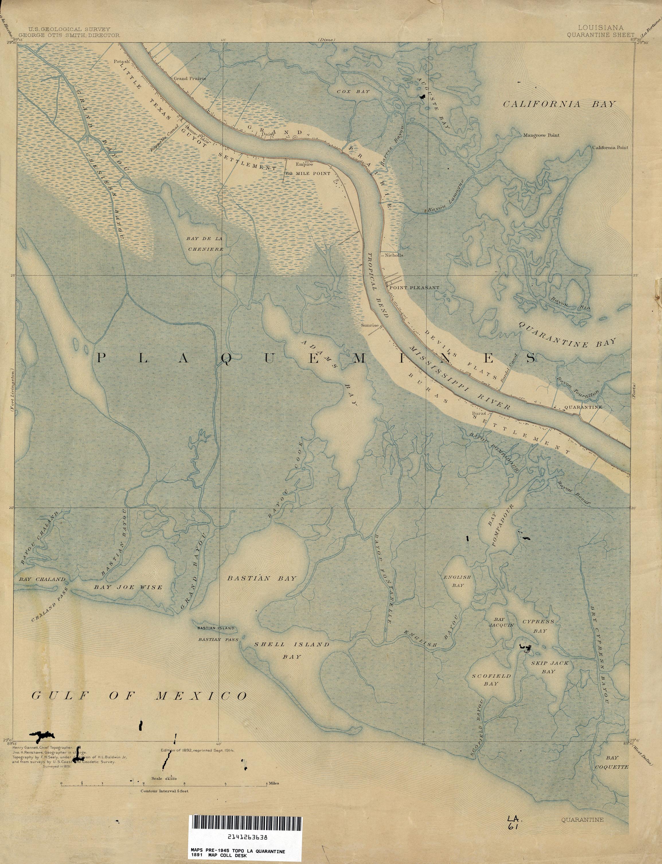 File Plaquemines Parish Louisiana Map 1891 Empire Quarantine Jpg