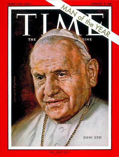Pope John XXIII on Time Magazine Cover of January 4, 1963 Pope John XXIII - Time Magazine Cover - January 4, 1963.jpg