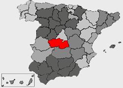 mapa de espanha toledo Provincia de Toledo   Wikipedia mapa de espanha toledo