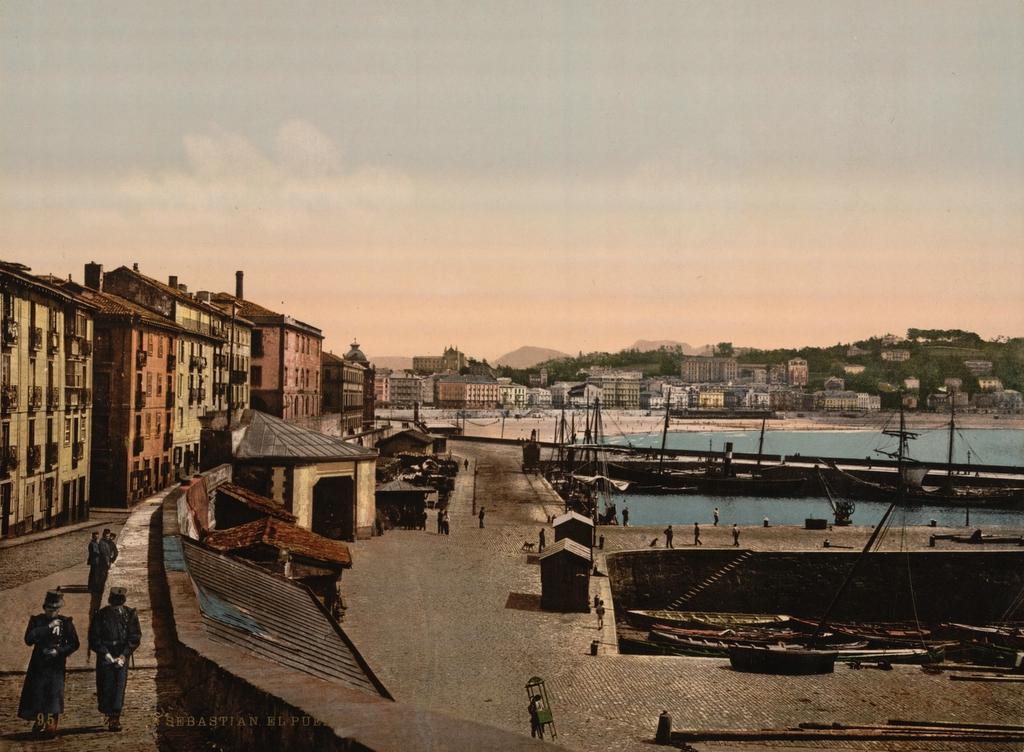 EL MUNDO EN TODO SU ESPLENDOR - Página 4 Puerto_de_San_Sebasti%C3%A1n_(1890)