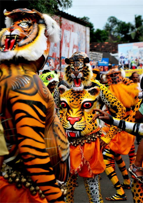puli kali Pulikkali or puli kali, folk art from kerala is performed by trained artists on the occasion of onam, the annual harvest festival of kerala.