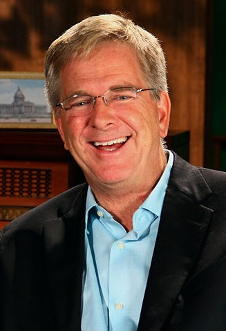 The 63-year old son of father (?) and mother(?) Rick Steves in 2018 photo. Rick Steves earned a  million dollar salary - leaving the net worth at 0.5 million in 2018
