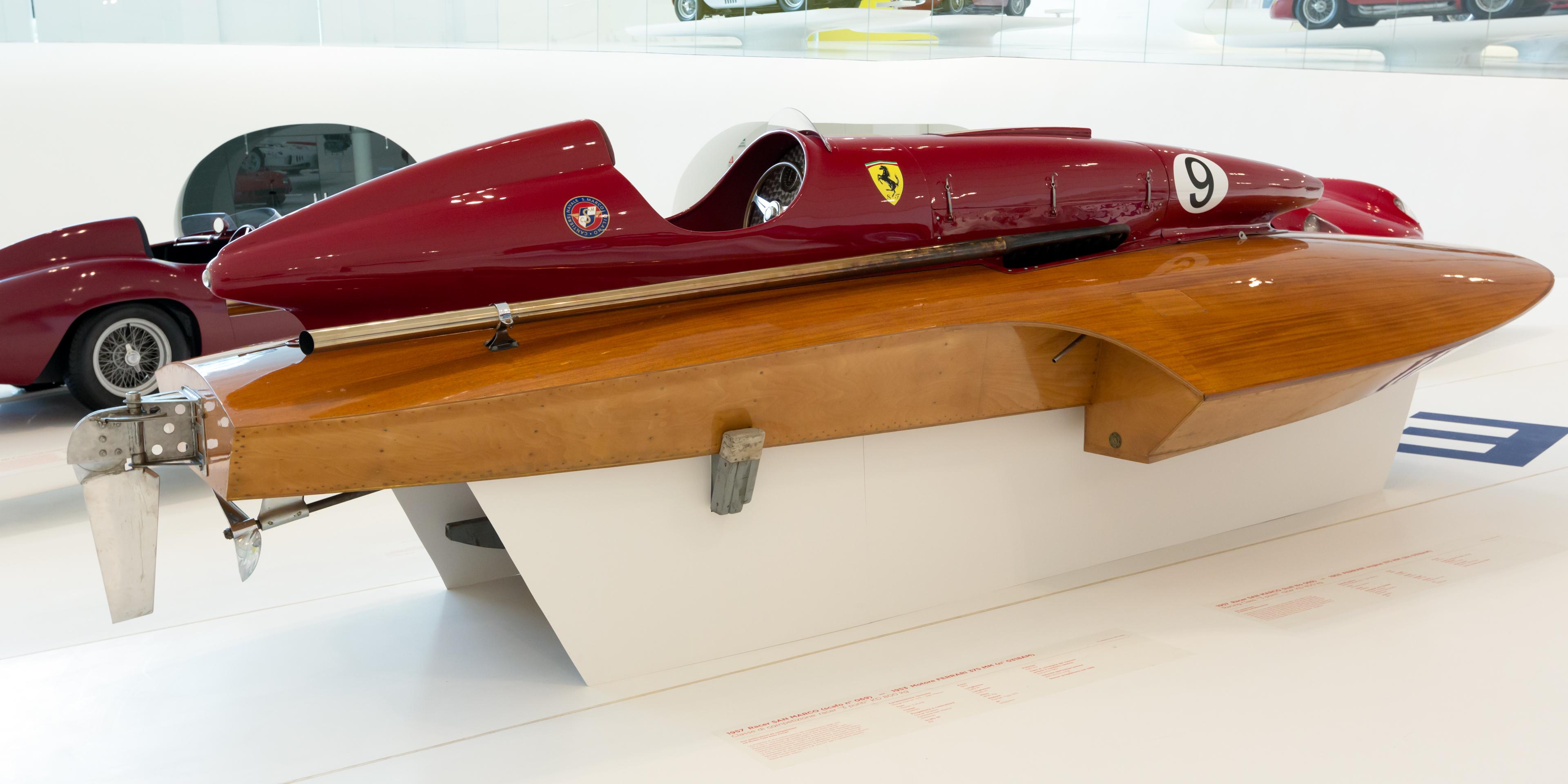 File San Marco Ferrari Racing Boat 1957 Right Enzo
