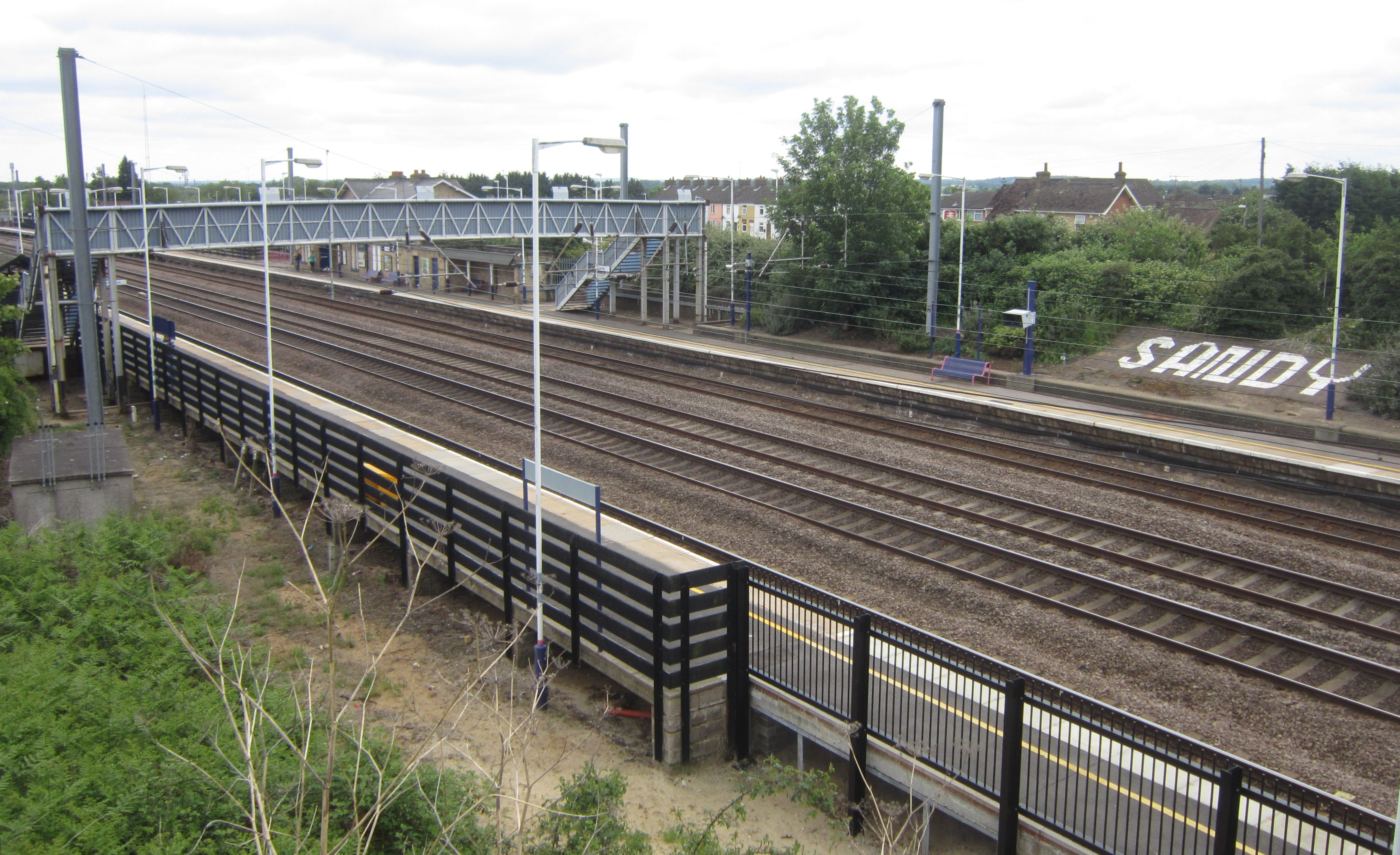 Sandy Line. Neots 2 Offord /& Buckden Railway Station Photo Huntingdon St