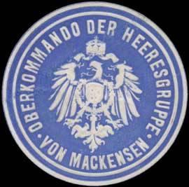 Siegelmarke Oberkommando der Heeresgruppe von Mackensen W0357337
