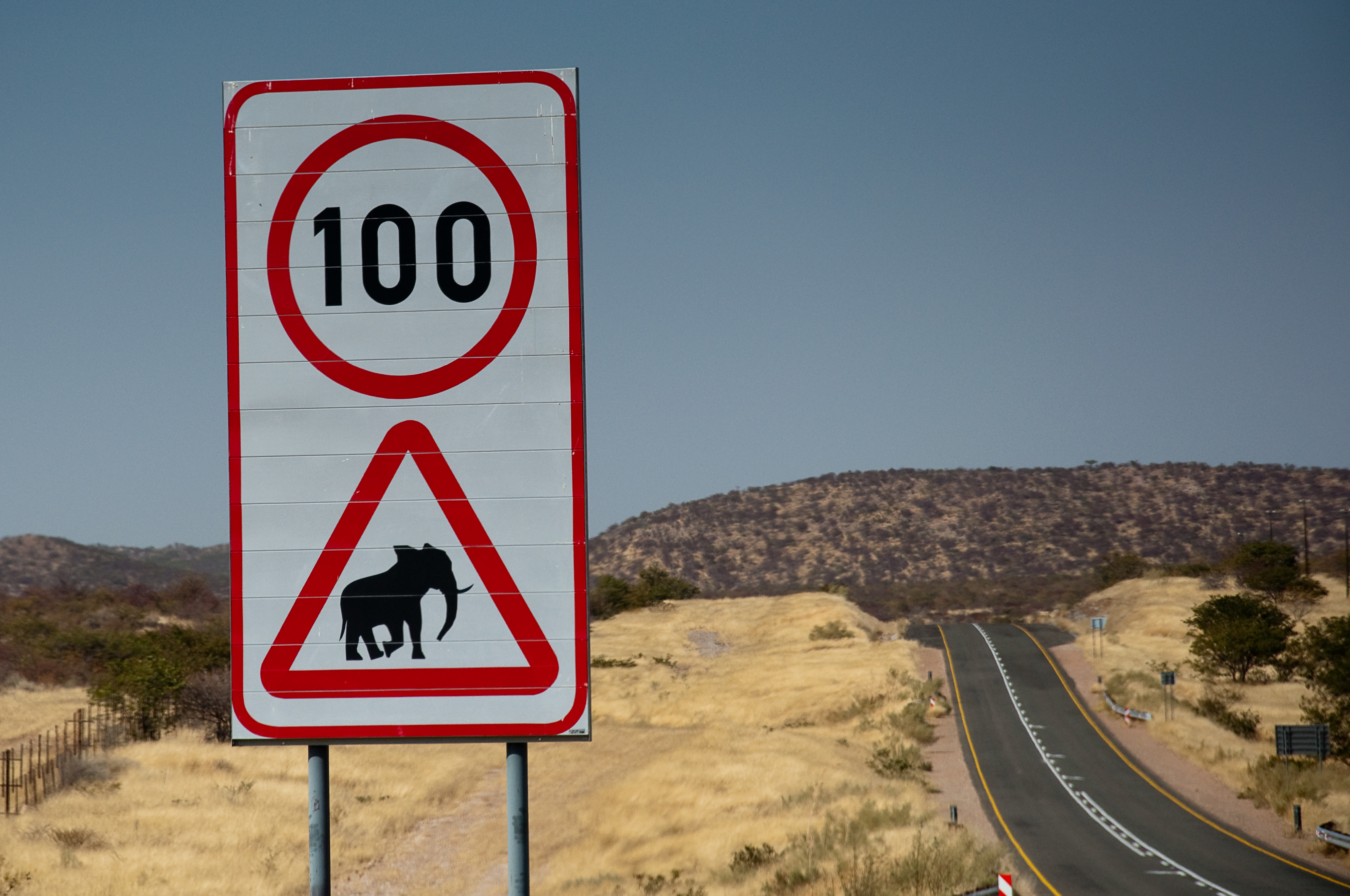 file signpost on the road to etosha in namibia 16july2009 jpg