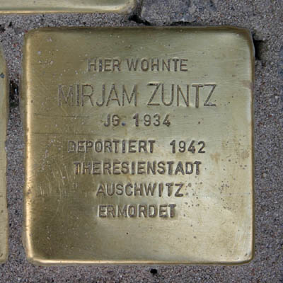 Stolperstein für Mirjam Zuntz