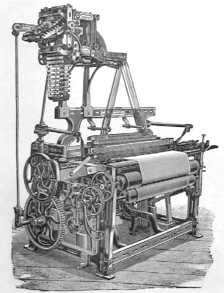 TM158 Strong Calico Loom with Planed Framing and Catlow's Patent Dobby