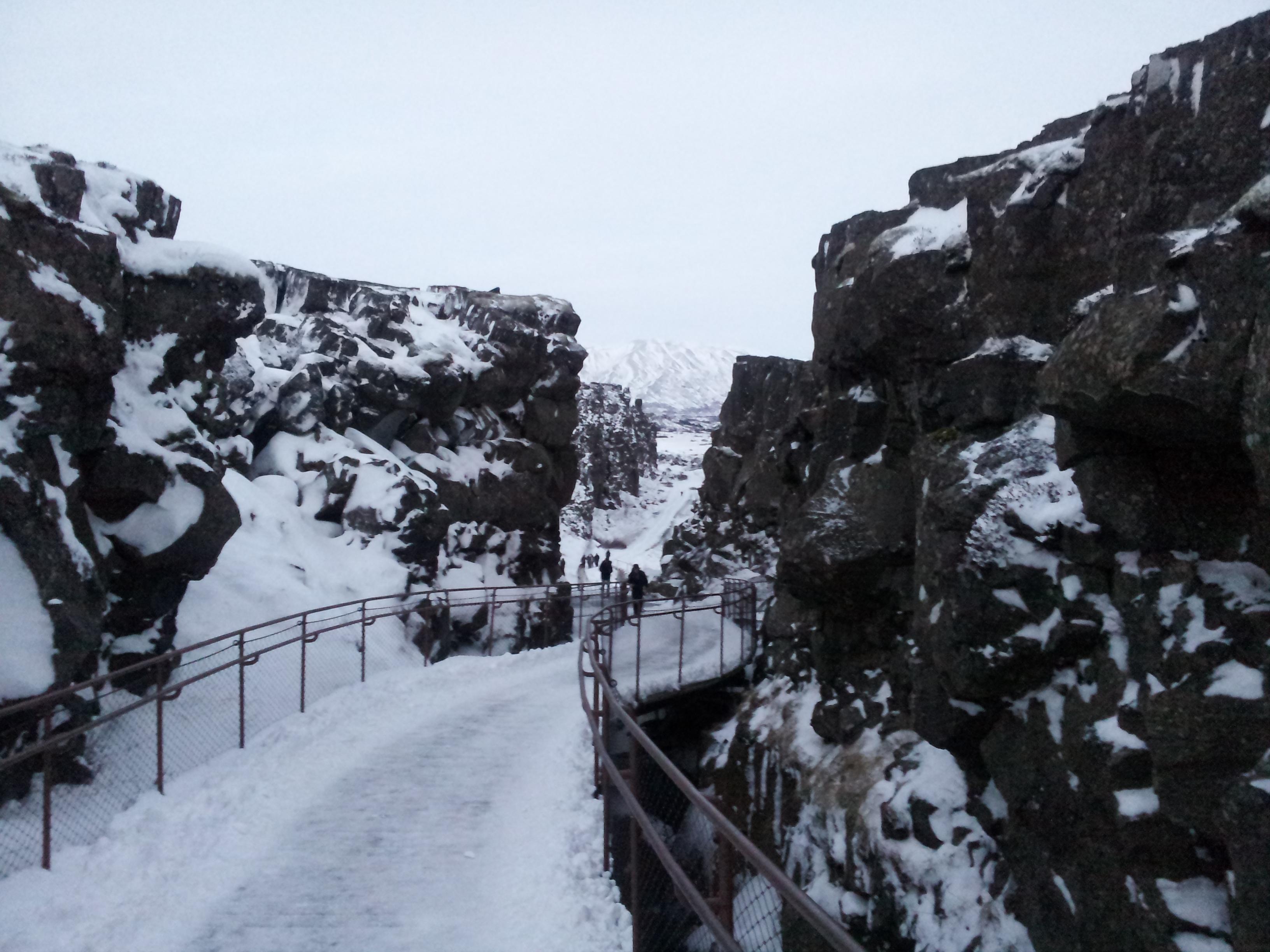 Þingvellir National Park during winters