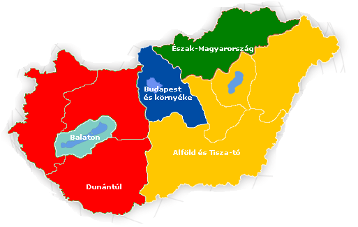 magyarország turisztikai régiói térkép Magyarország turisztikai régiói – Wikipédia magyarország turisztikai régiói térkép