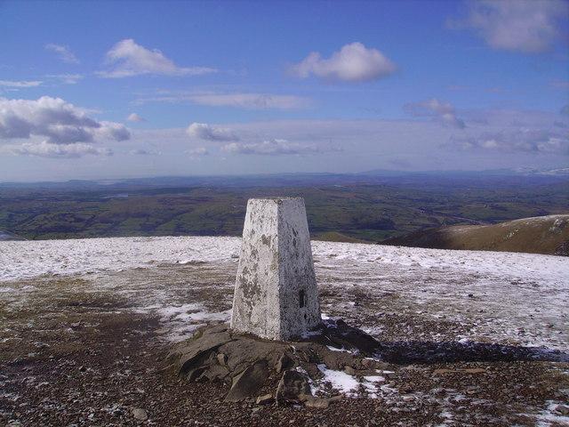 Trig Pillar, The Calf - geograph.org.uk - 713855