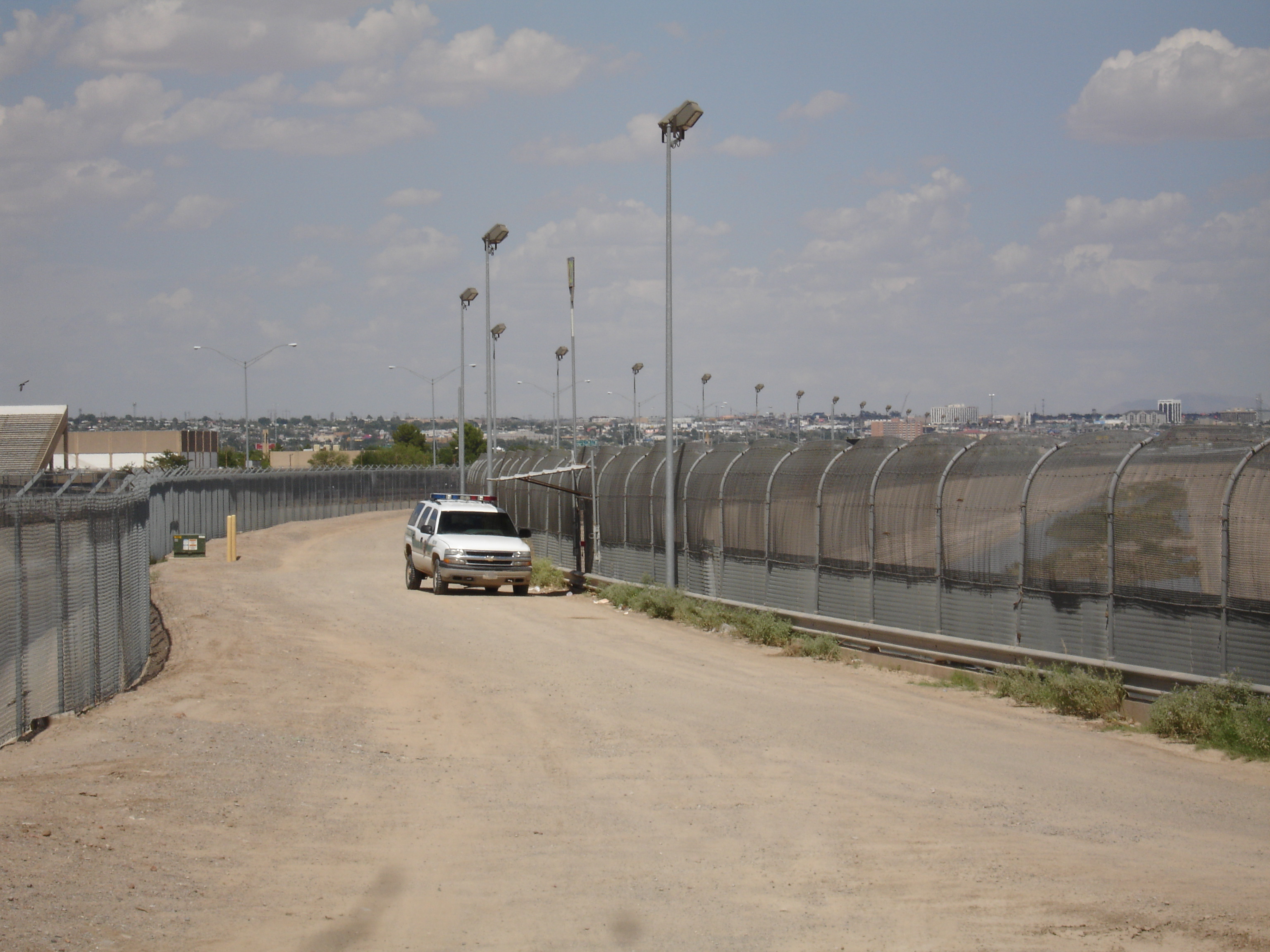 The U.S. border fence near El Paso, Texas