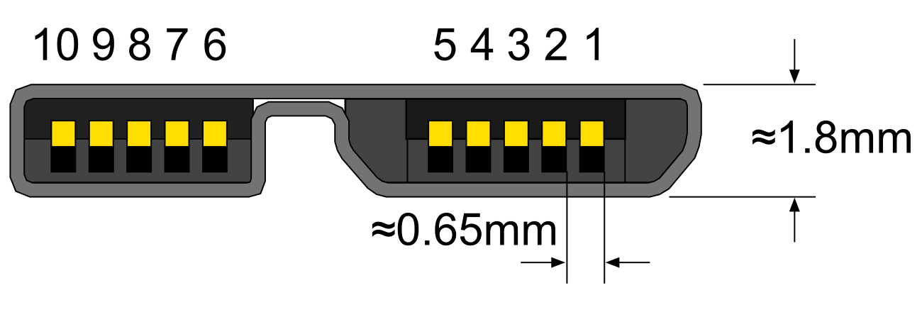 file usb 3 0 micro b plug png wikimedia commons USB 3.0 Extender Cat5 file usb 3 0 micro b plug png