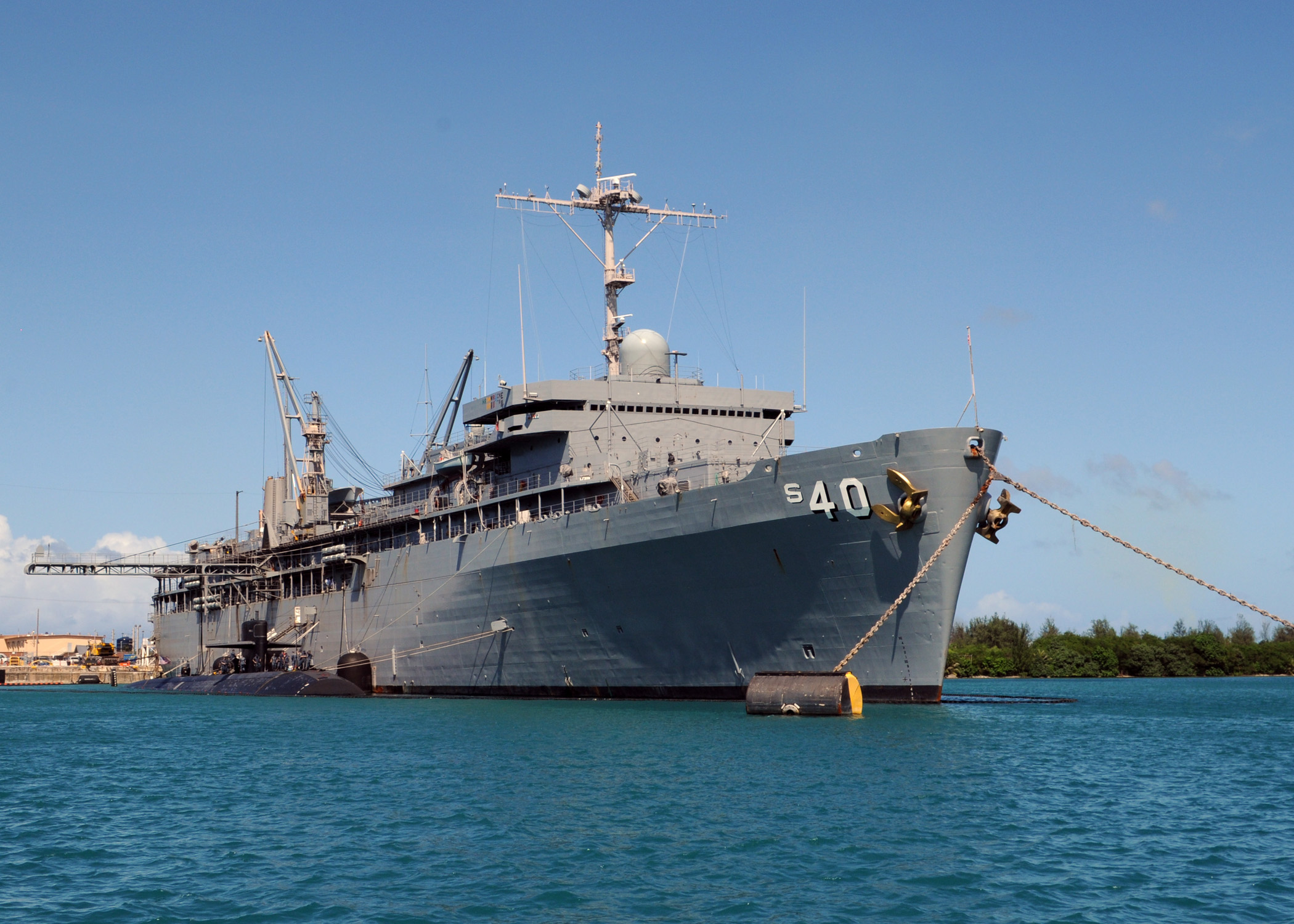 Image result for USS Frank Cable (AS-40) AT GUAM