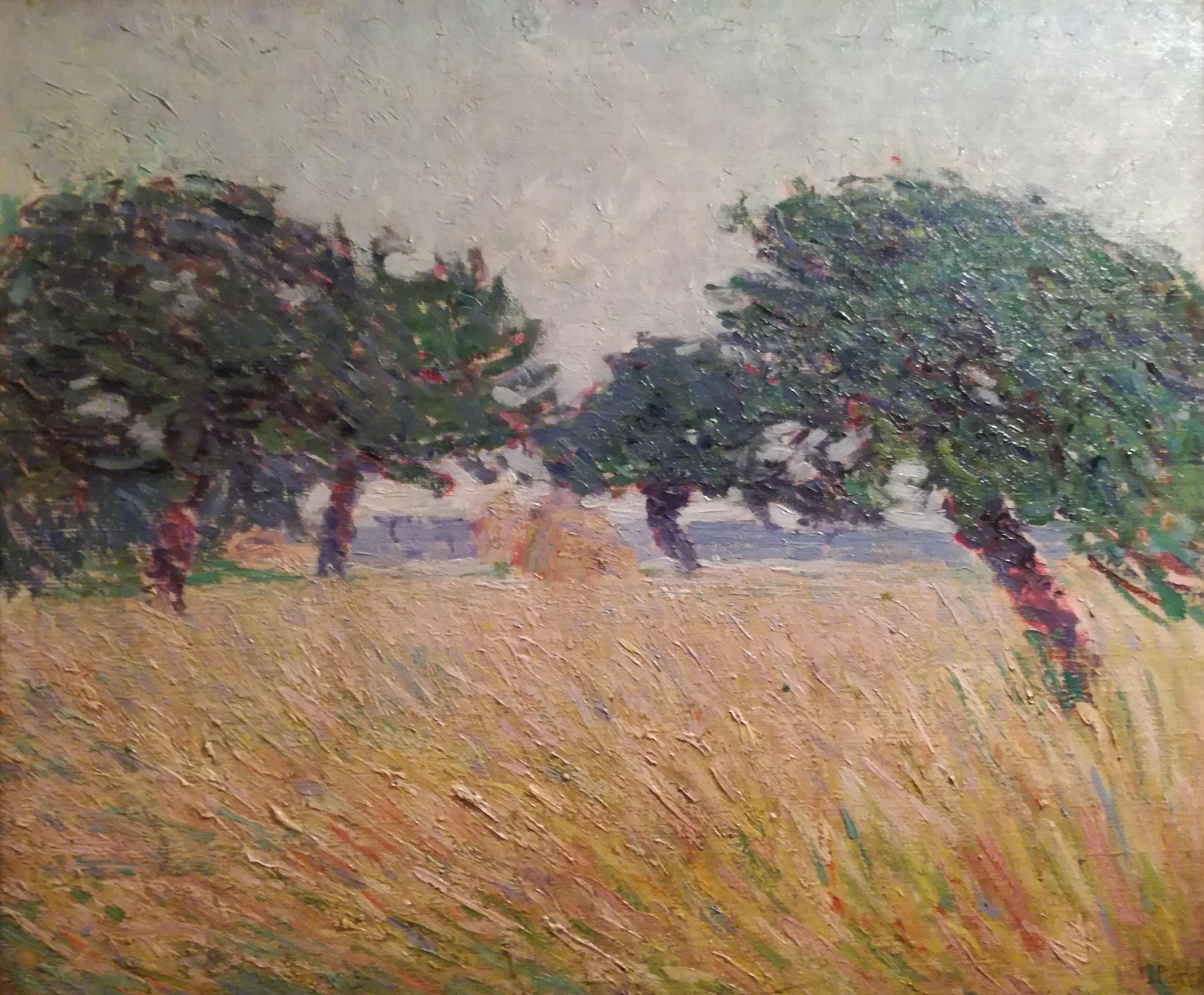 File umberto boccioni due alberi in riva al mare 1908 for Paesaggi marini dipinti