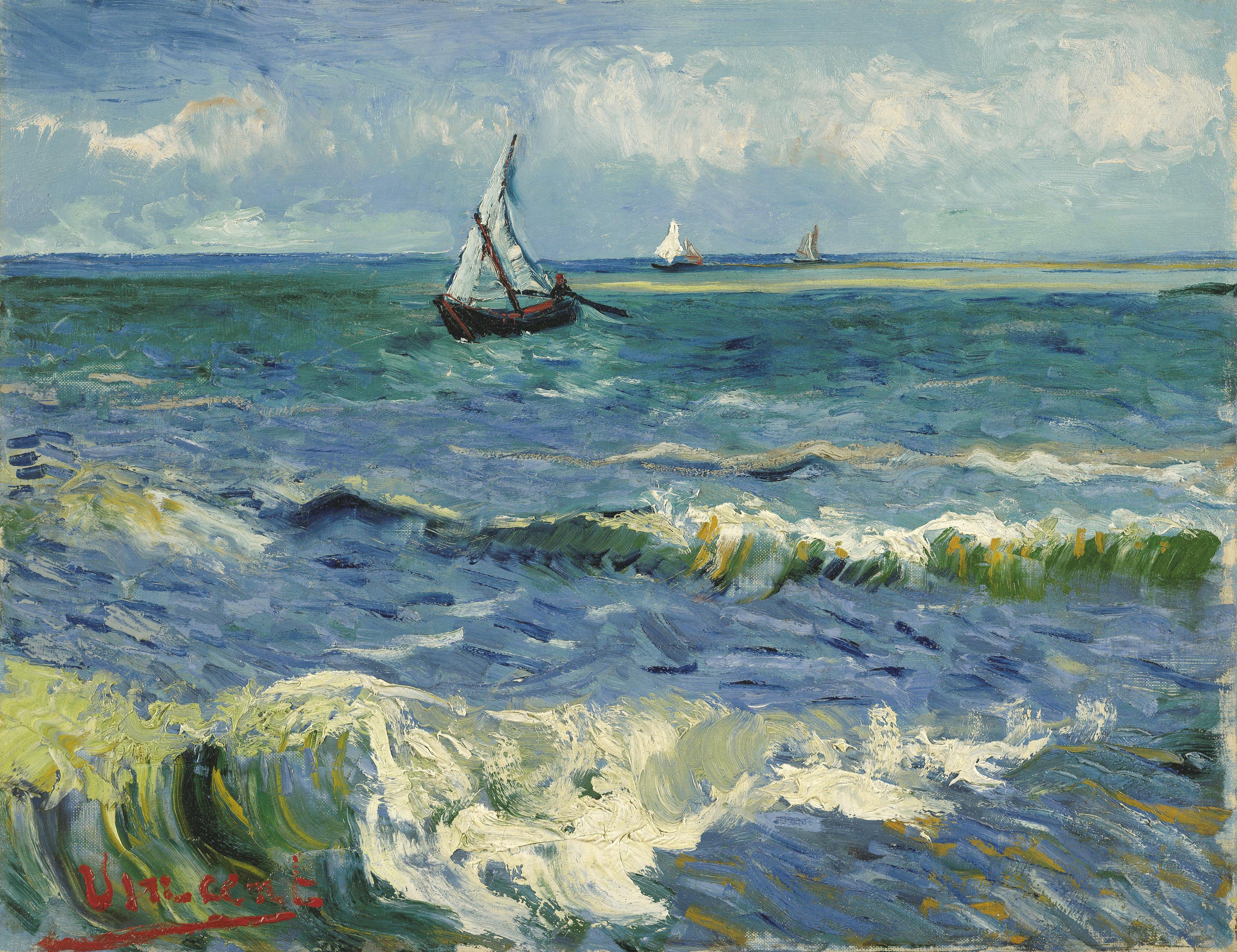 File Vincent van Gogh Zeegezicht bij Les Saintes Maries de la Mer Google Art Project