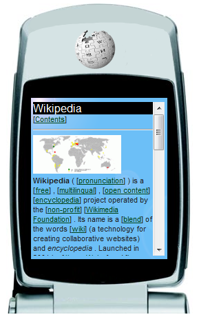 screenshot of http://en.wap.wikipedia.org/