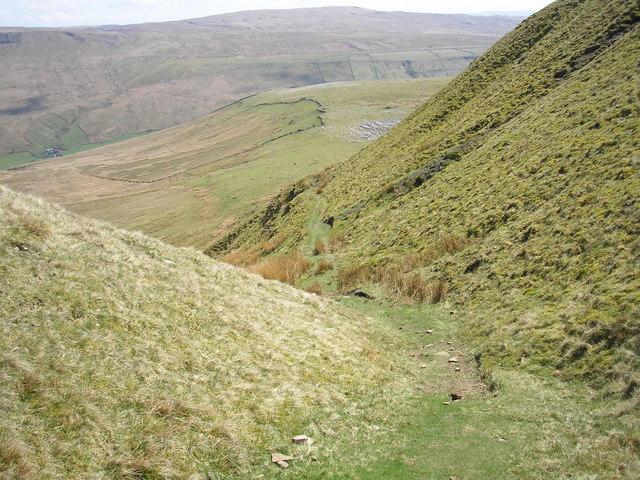 Wild Boar Fell bridleway - geograph.org.uk - 163901
