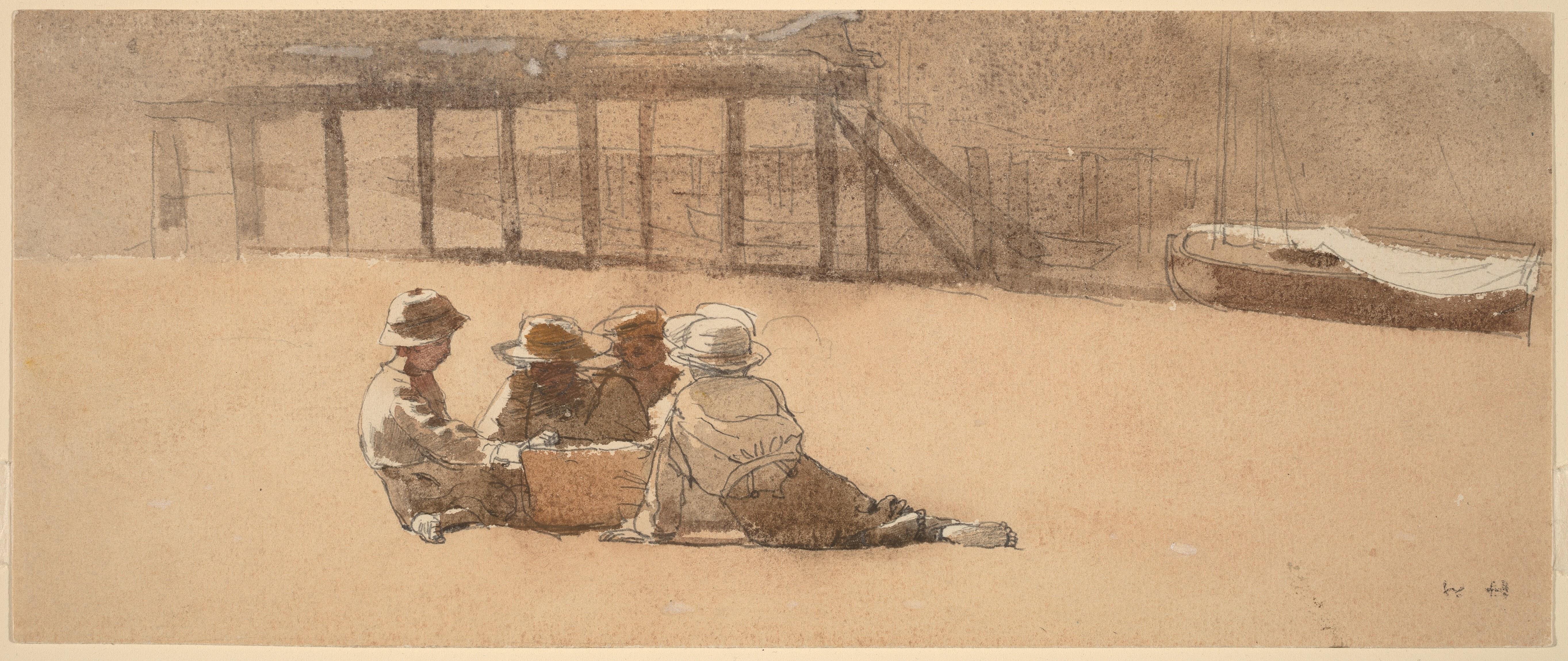 be59743e4de File Winslow Homer - Four Boys on a Beach (c.1873).jpg - Wikimedia ...