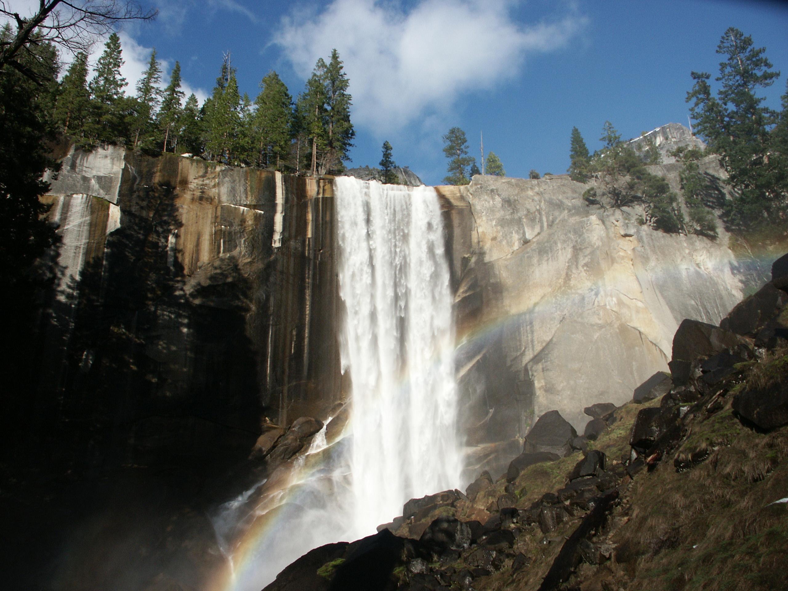File Yosemite N P Vernal Falls Rainbow Jpg Wikimedia