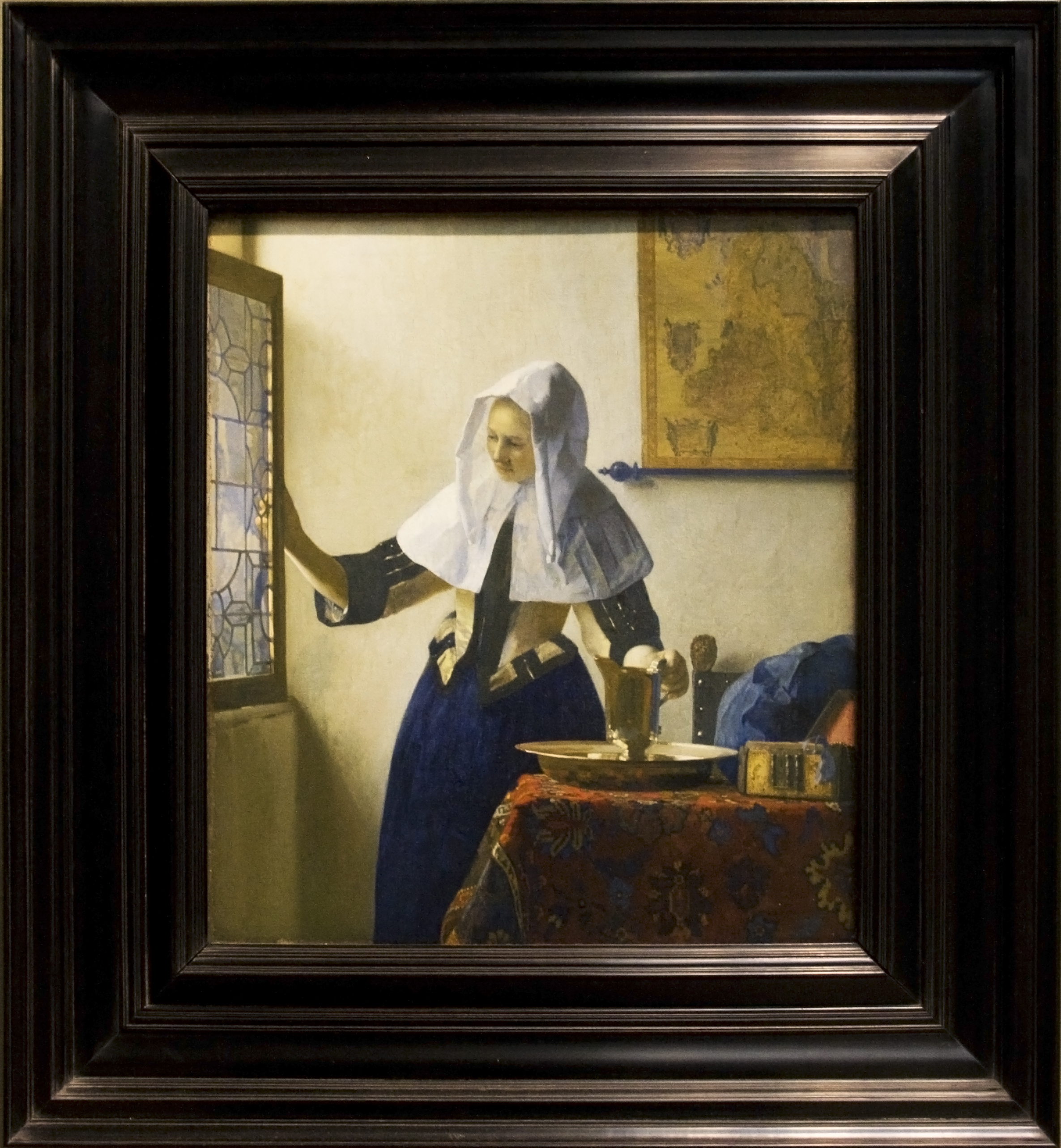 File:Young Woman with a Water Pitcher - Painting of Vermeer, with ...