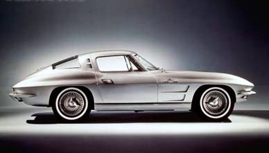 Corvette Sting Ray coupe uit 1963