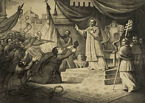 File:A. Lamma -Pio IX benedice i combattenti per l'indipendenza italiana -litogr -ca.1850.jpg