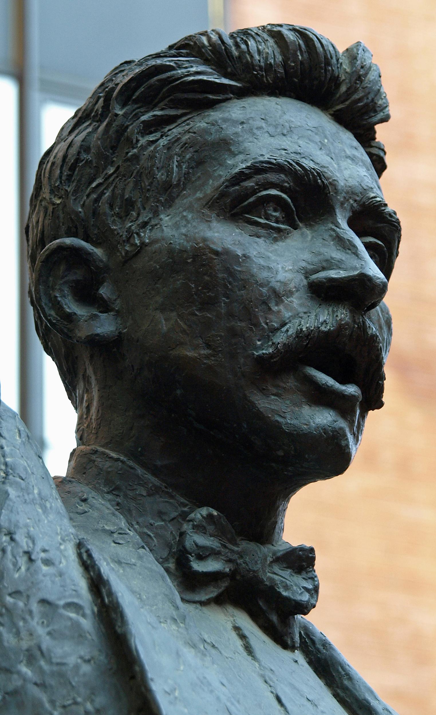 ''A Lluís Millet'' (detalle), escultura de Josep Salvadó Jassans. Palacio de la Música Catalana, Barcelona.