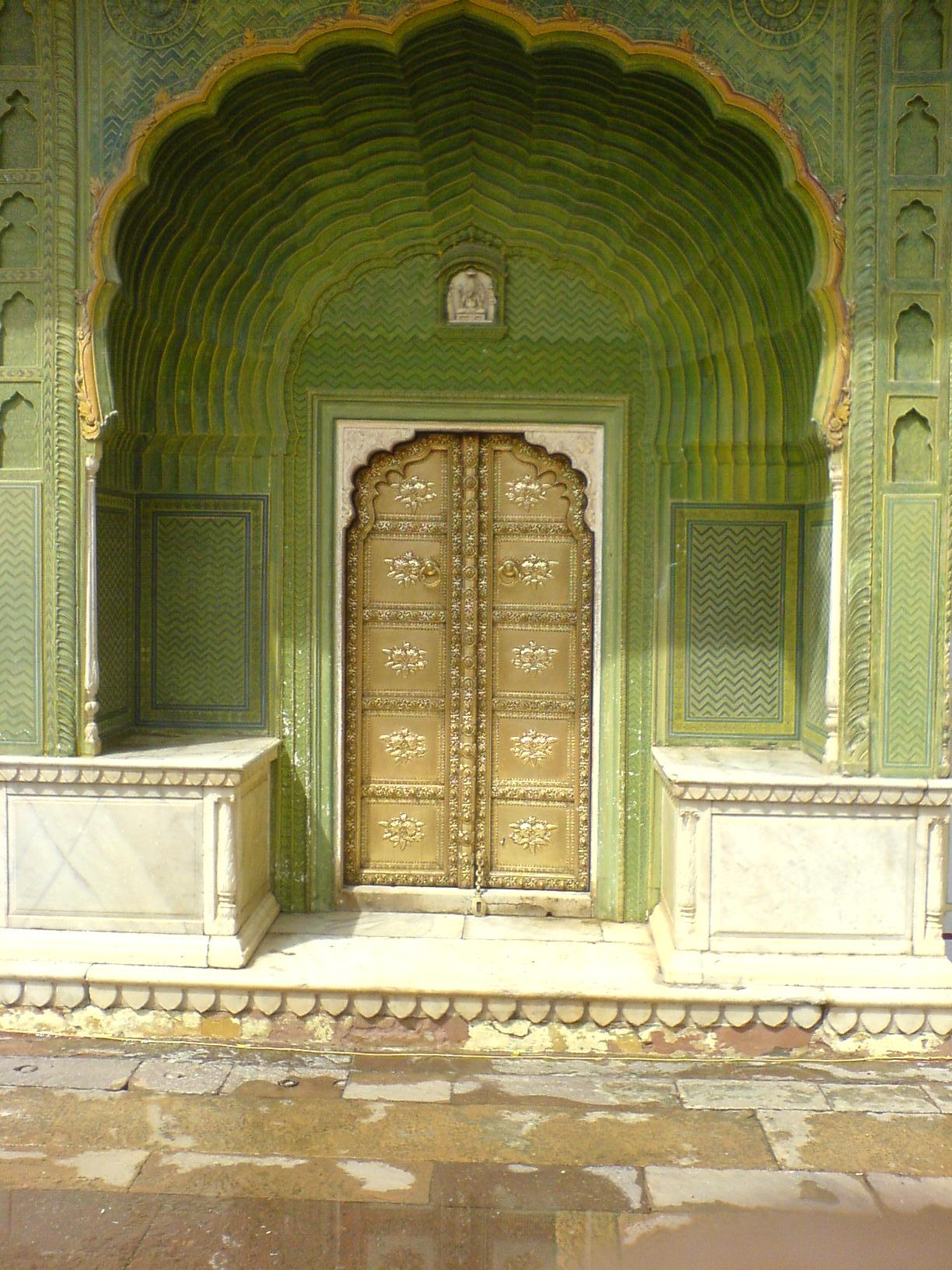File A Doorway Inside City Palace  Jaipur Jpg