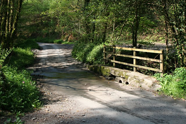 File:A ford on a road through woodland - geograph.org.uk - 426925.jpg