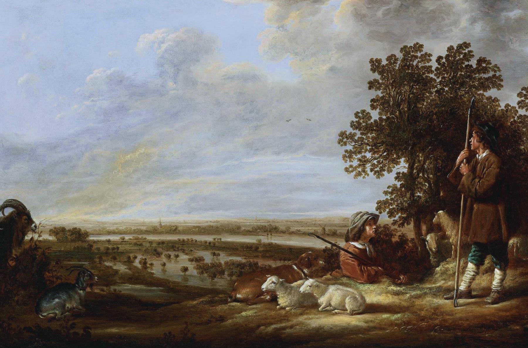 Verrassend File:Aelbert Cuyp - Landschap met twee herders en hun dieren.jpg JE-35