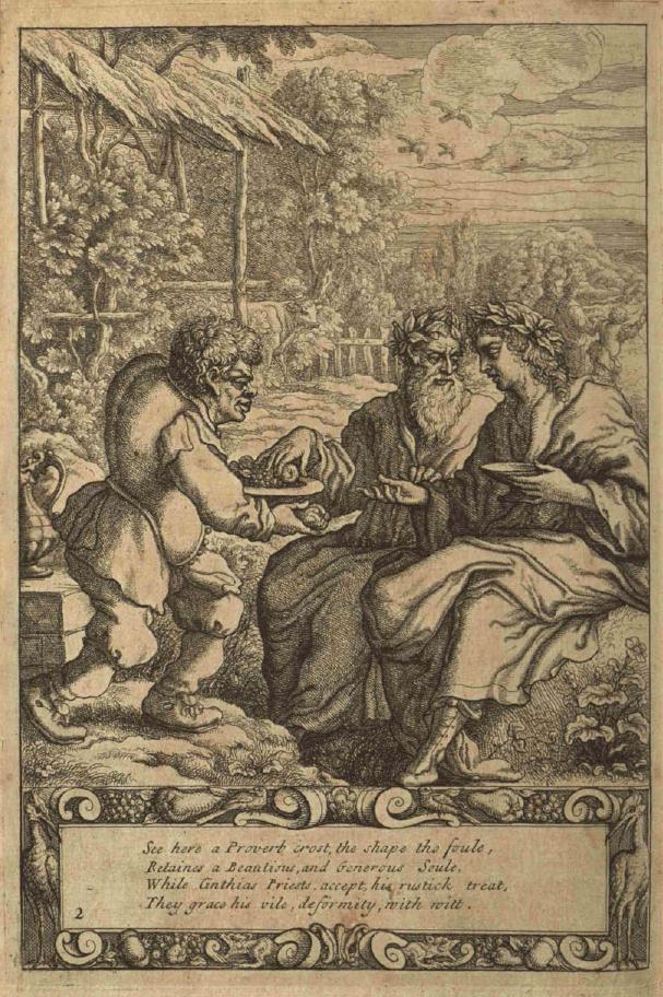 Esopo schiavo in illustrazione di Francis Barlow 1687,