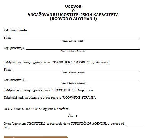 Sporazum o saradnji primer