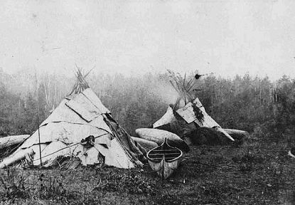 Anishinaabe camp by benjamin F Upton 1870.jpg