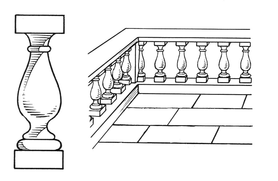 Balustrade wiktionnaire for Architecture etymologie