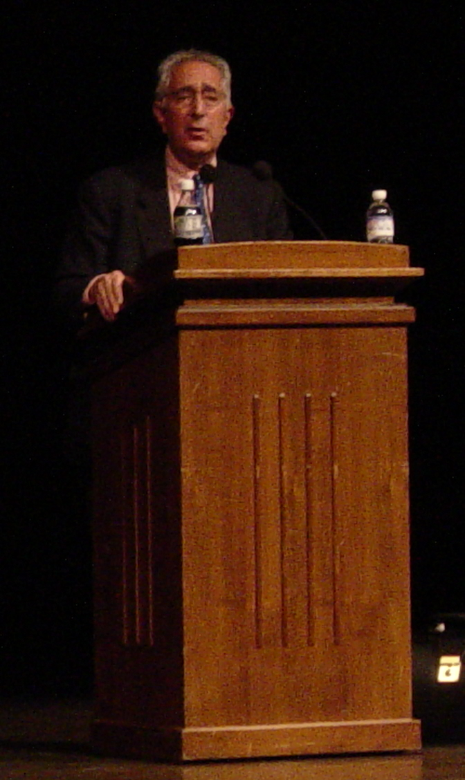 English: Ben Stein speaking at Miami Universit...