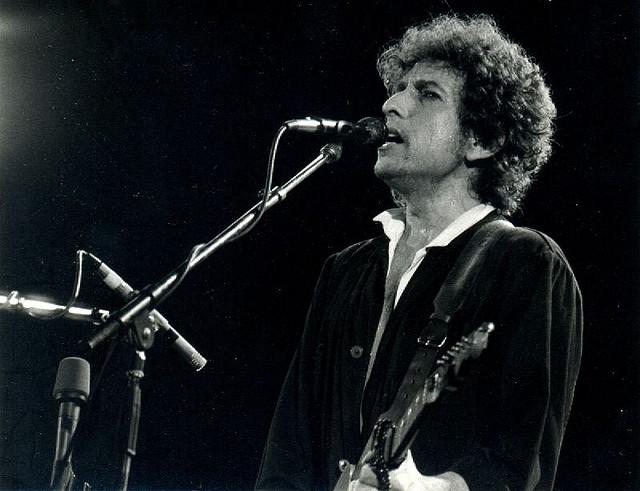 Bob Dylan en Barcelona el 28 de junio de 1984.