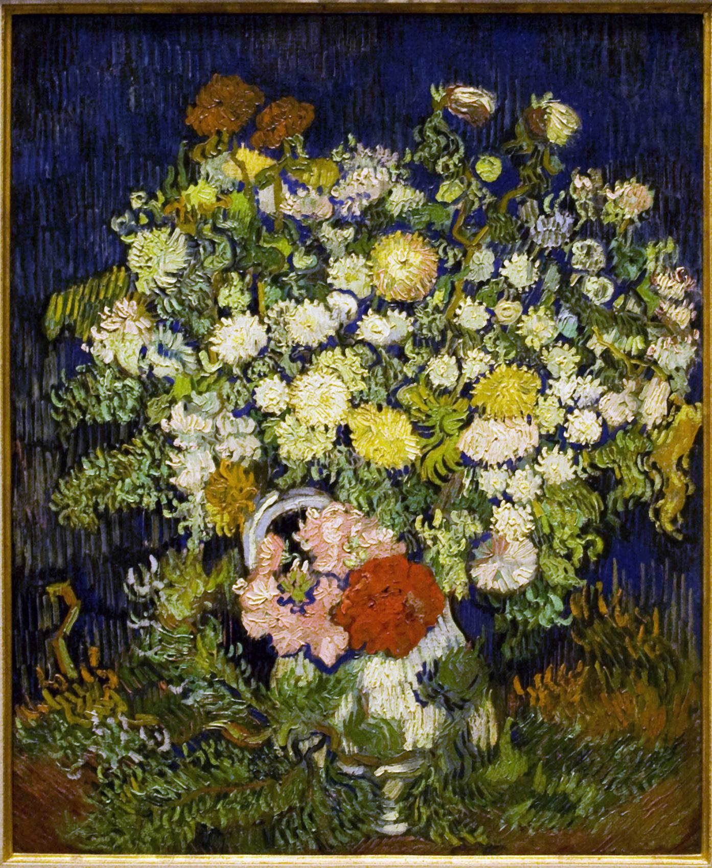 Filebouquet Of Flowers In A Vaseg Wikimedia Commons