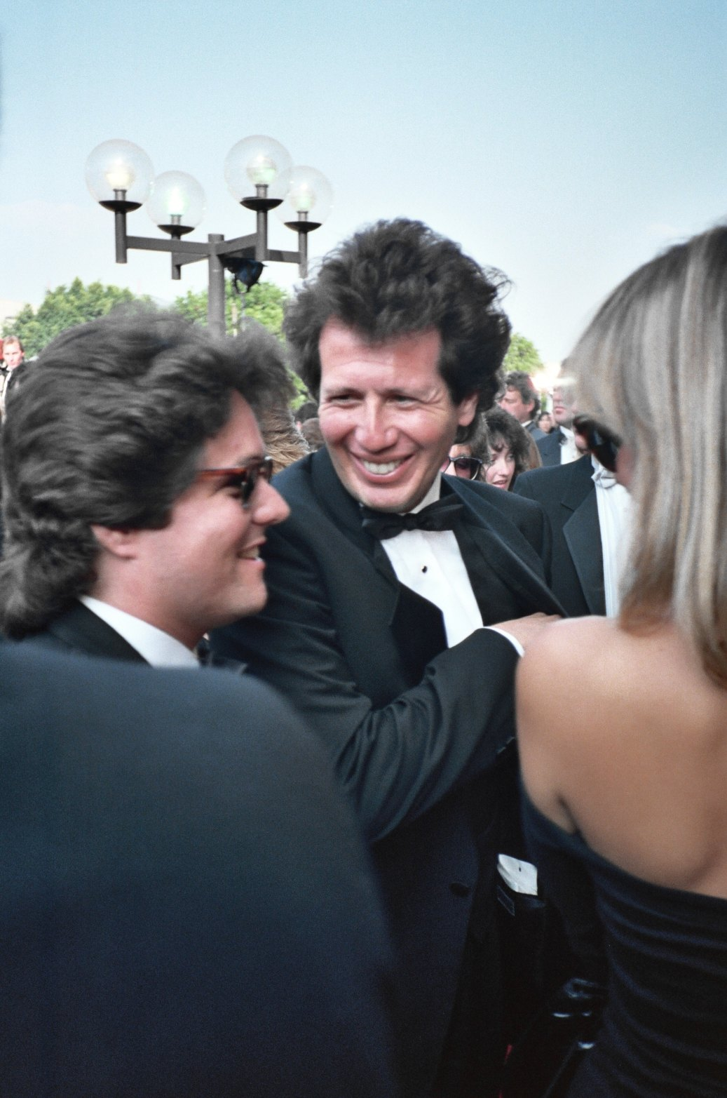 Brad Grey (left) with [[Garry Shandling]] at the [[1987 Emmy Awards]]