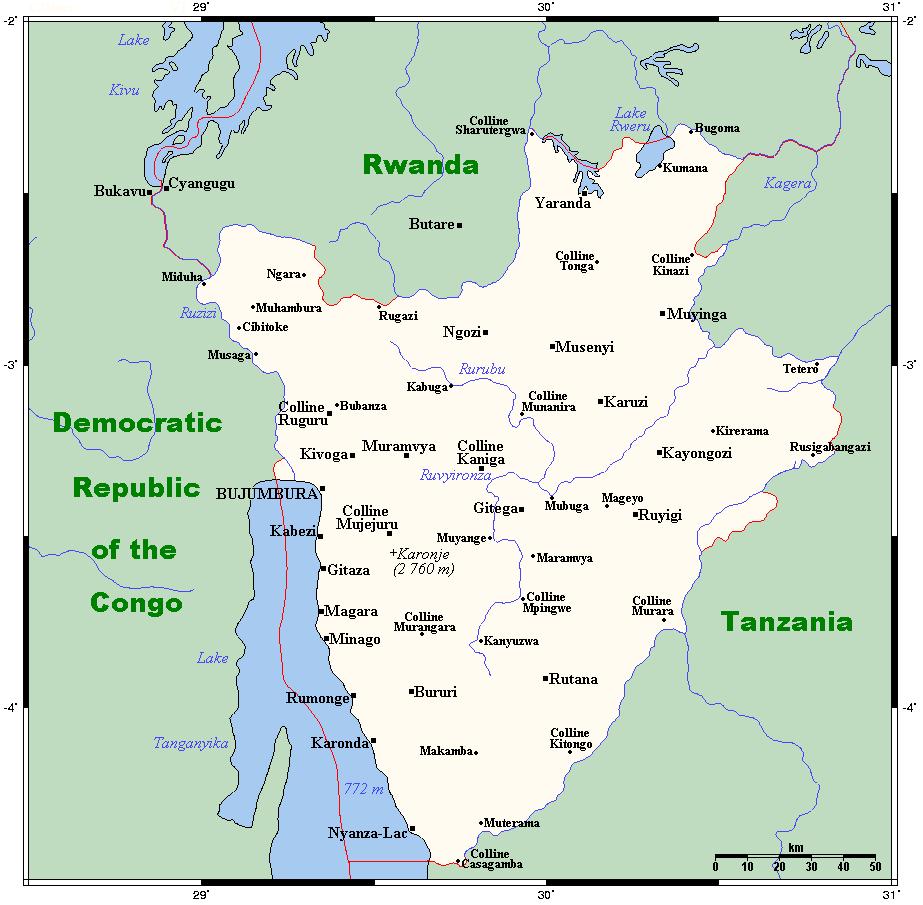 Geography Of Burundi Wikipedia