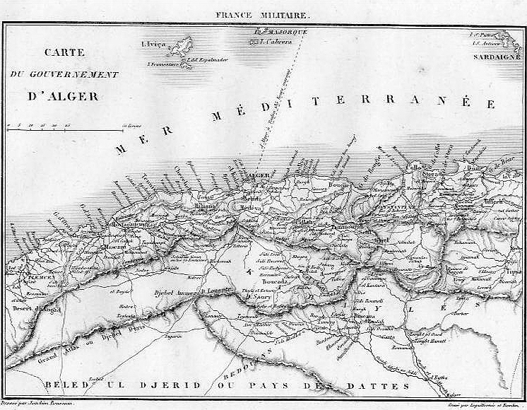 Fichier:Carte du gouverrnement d alger 1835.jpg