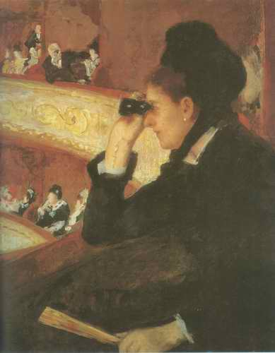 In the Loge Mary Cassatt