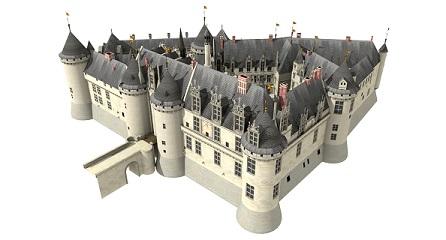 Chantilly XVIIeme 3D