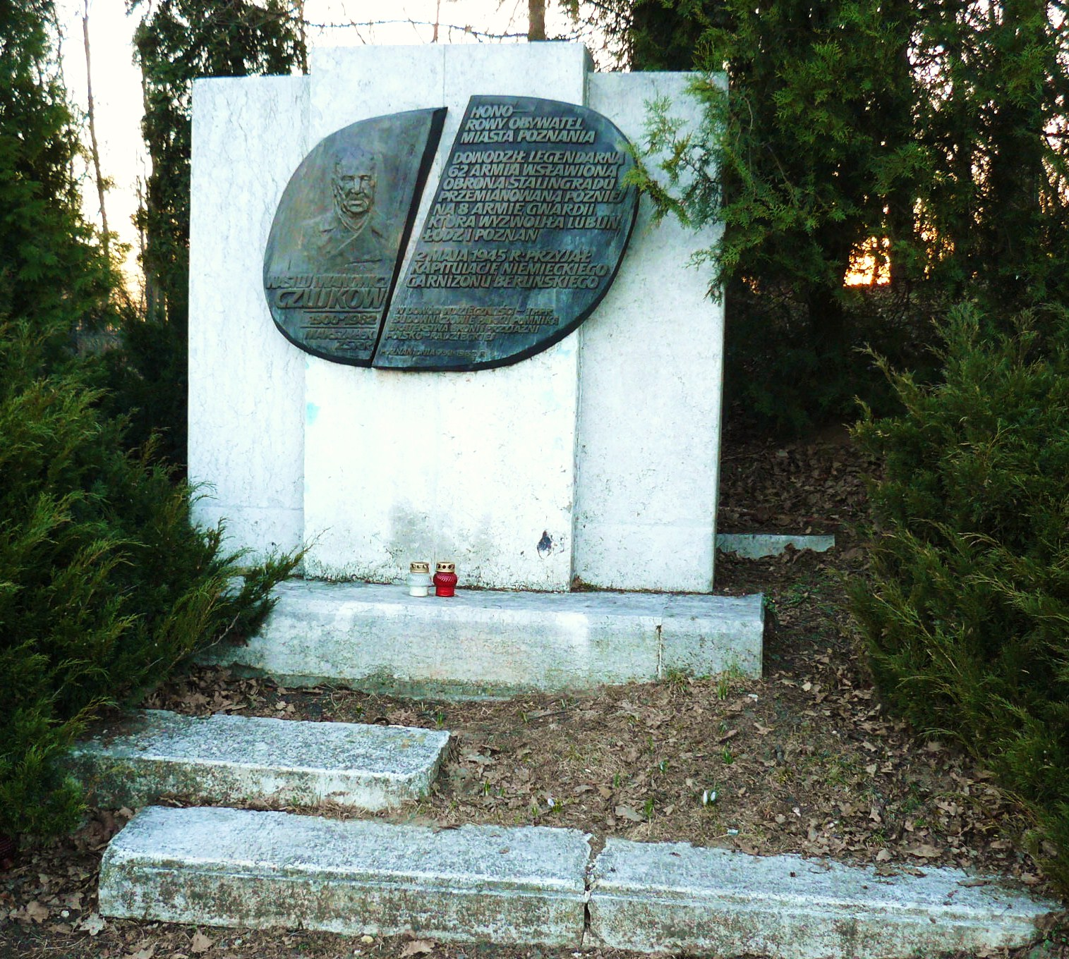 Pomnik Marszałka ZSRR Wasyla Czujkowa w Poznaniu