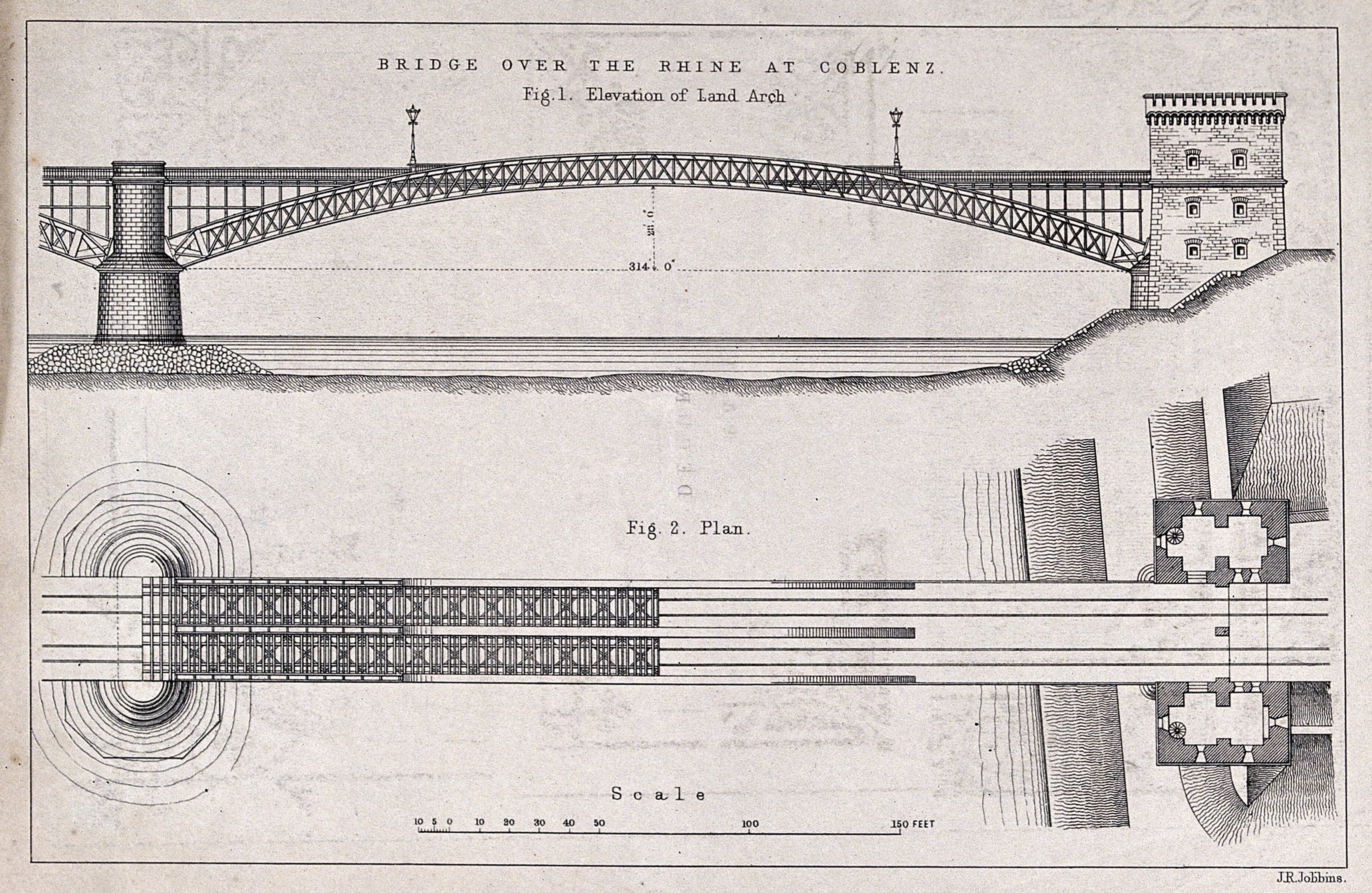Civil Elevation Plan : File civil engineering plan and elevation of the coblenz